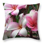 Hawaii Plumeria Throw Pillow