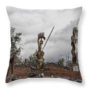 Hawaii Sculptures Throw Pillow