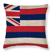 Hawaii State Flag  Throw Pillow