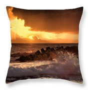 Hawaii Sunset V2 Throw Pillow