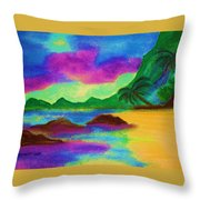 Hawaii Tropical Ocean Vision Throw Pillow