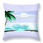 Hawaii Waves Throw Pillow