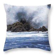 Hawaii Waves V3 Throw Pillow