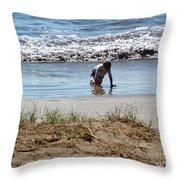 Beach Boy Throw Pillow