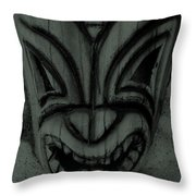 Hawaiian Charcoal Mask Throw Pillow