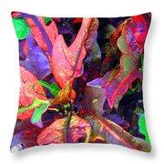 Hawaiian Foliage Throw Pillow