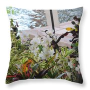 Hawaiian Garden Throw Pillow