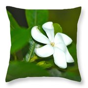 Hawaiian Gardenia Throw Pillow