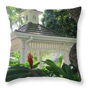 Hawaiian Gazebo Throw Pillow