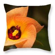 Hawaiian Hau Throw Pillow