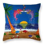 Hawaiian Island Love Throw Pillow