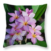 Hawaiian Lei Flower Throw Pillow