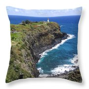 Hawaiian Lighthouse Throw Pillow