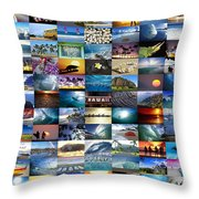 One Hawaiian Mixed Plate Throw Pillow