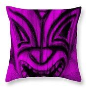 Hawaiian Purple Mask Throw Pillow