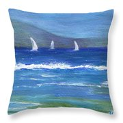 Hawaiian Sail Throw Pillow