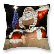 Hawaiian Santa Throw Pillow