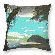 Hawaiian Sunset Throw Pillow