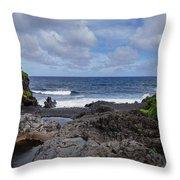 Hawaiian Surf Throw Pillow