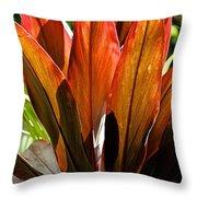 Hawaiian Ti Plant Throw Pillow