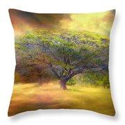 Hawaiian Tree Throw Pillow