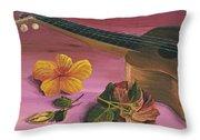 Hawaiian Ukulele Throw Pillow by Darice Machel McGuire