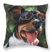 Hawg Dawg Throw Pillow