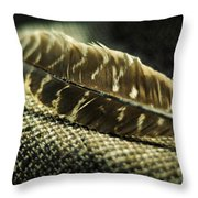 Hawk Feather  Throw Pillow