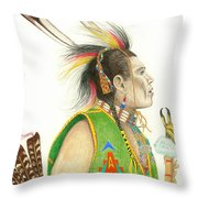 Hawk Foot Throw Pillow by Lew Davis