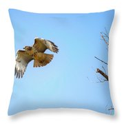 Hawk In Early October Throw Pillow