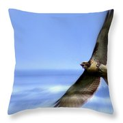 Hawk - Screams Of The Ocean Throw Pillow