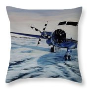 Hawker - Airplane On Ice Throw Pillow