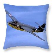 Hawker Sea Hawk Fga6 Throw Pillow