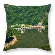 Hawks Nest Dam Throw Pillow