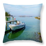 Hawks Nest Marina Throw Pillow