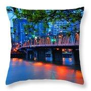 Hawthorne Bridge 22958 Throw Pillow