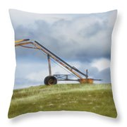 Hay Bale Loader Throw Pillow