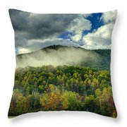Hay Bales In The Morning Throw Pillow