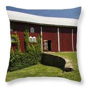 Hay Barn Throw Pillow