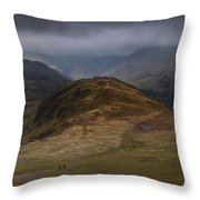 Hay Stacks Landscape Throw Pillow
