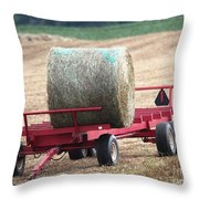 Hay Wagon Throw Pillow