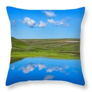 Hayden Valley Cloud Reflection Yellowstone National Park Throw Pillow