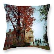 Hayesville Academy Vermillion Institute Throw Pillow