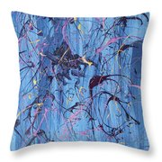 Hayley Blue Throw Pillow