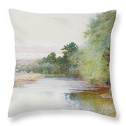 Haymaking Near Marlow Throw Pillow