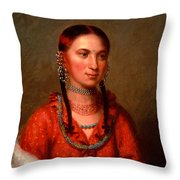 Hayne Hudjihini . Eagle Of Delight Oto Throw Pillow