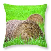Hayrolls Throw Pillow