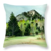 Haystack Mountain Castle Hill Me Throw Pillow