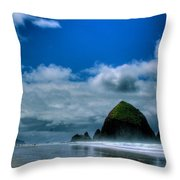 Haystack Rock V Throw Pillow