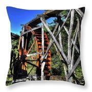 Haywood Cc Grist Mill Wheel Throw Pillow
